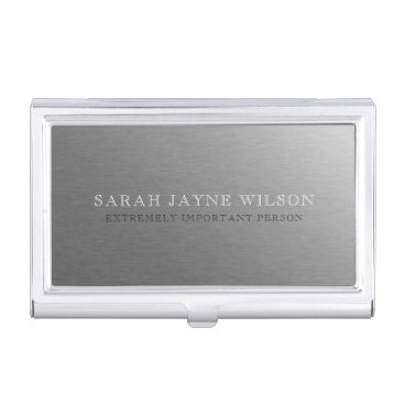 Extremely Important Silver Business Card Holder
