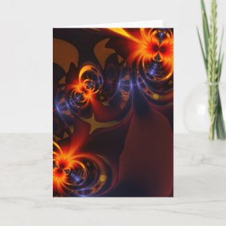 Eyes & Swirls – Amber & Indigo Delight Cards