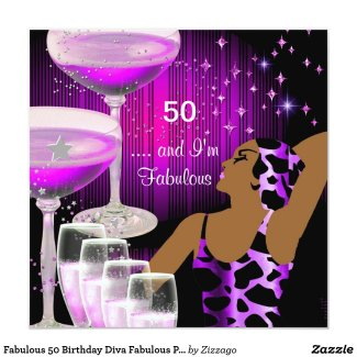 Fabulous 50 Birthday Diva Fabulous Purple Pink