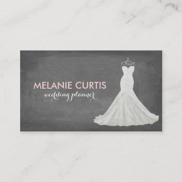 Fabulous Wedding Gown Chalkboard Business Card