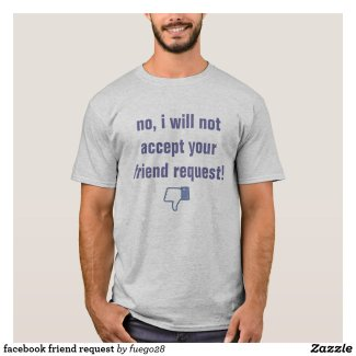facebook friend request T-Shirt