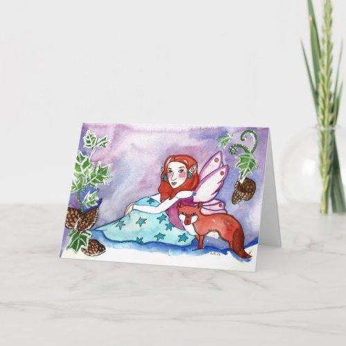 Fairy and Fox Happy Birthday Greeting Card