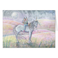 Fairy and Unicorn Card