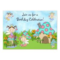 Fairy Princesses and Garden Birthday Invitation