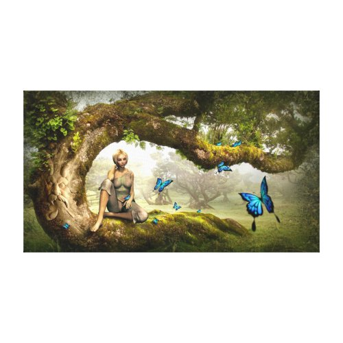 Fairyland and Butterflies Canvas Print