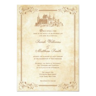 Fairytale Castle Wedding Invitations