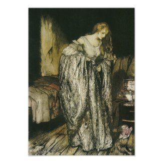 Fairytale Sparkle Dress by Arthur Rackham print