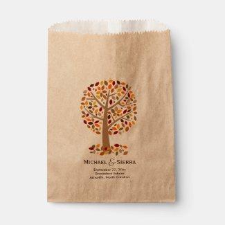 Fall Autumn Season Tree Wedding Favor Candy Buffet Favor Bags