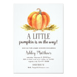Fall baby shower, a little pumpkin baby shower invitation