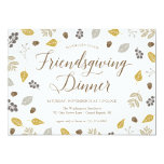 Fall Foliage Friendsgiving Dinner Party Invitation