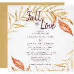 Fall in Love Golden Foliage Autumn Yellow Wedding Invitation
