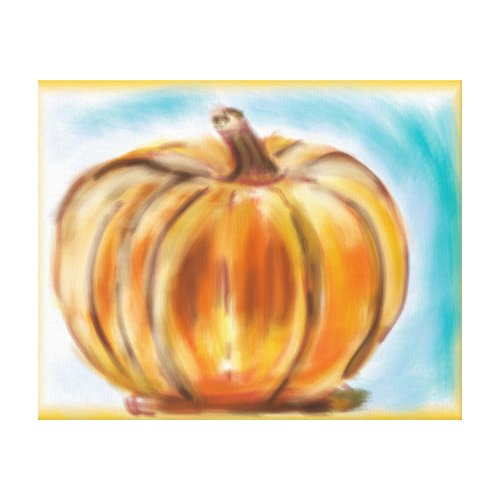 'Fall Pumpkin' 20x16 Premium Canvas (Gloss)