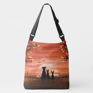 Fall Sunset Crossbody Bag