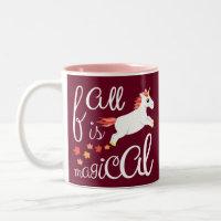 Fall Unicorn Autumn Colors Magical Mug