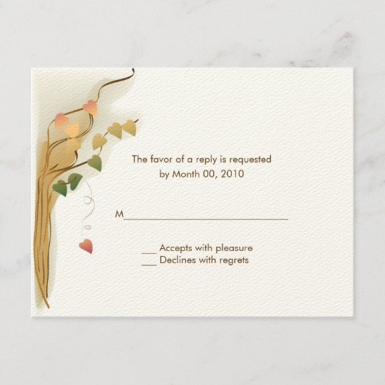 Fall Wedding Invitation Reply Cards