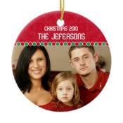 Family Photo Christmas Ornament ornament