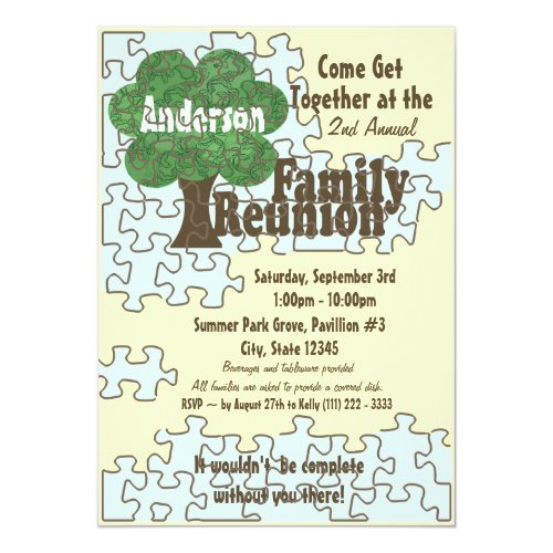 Family Reunion Puzzle Card