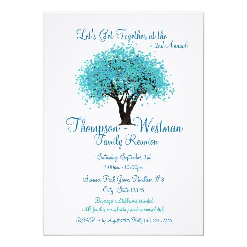 Family Reunion Tree Card