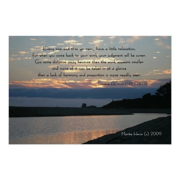 Famous Words: Relaxation - Carmel Sunset - Poster