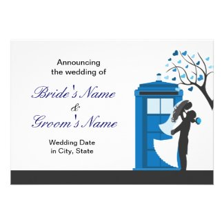 Fantasy Wedding Announcement/Invitation