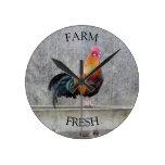 Farm Fresh Rooster Clock