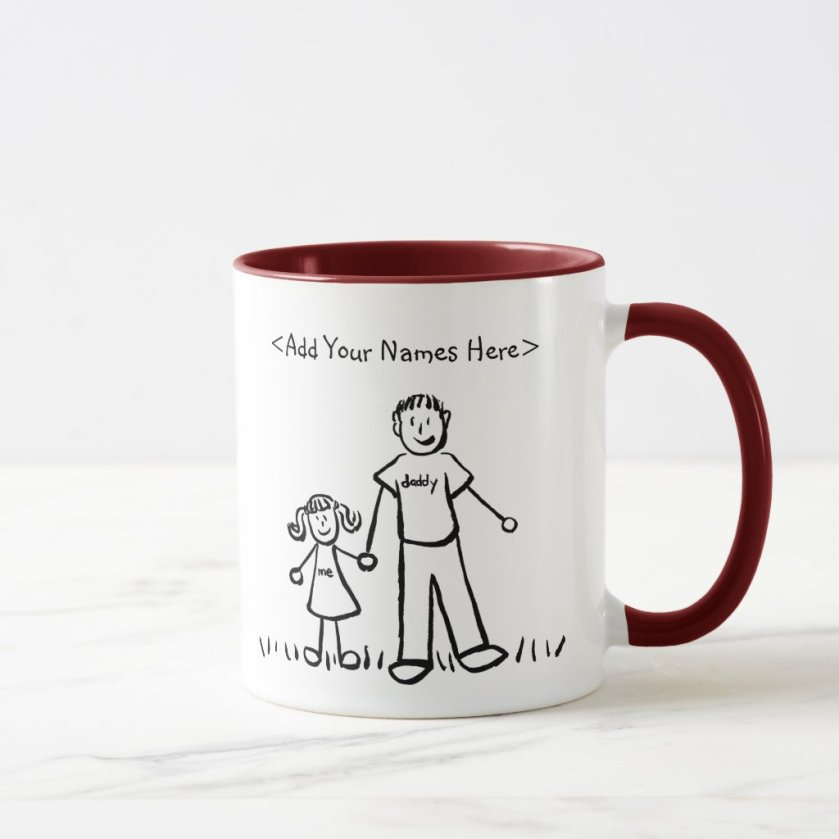 Father and Daughter Mug (Customize Names)
