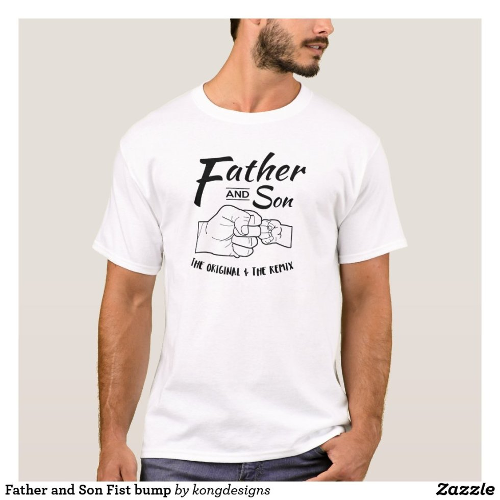 Father and Son Fist bump T-Shirt