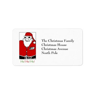 Father Christmas Custom Address Labels