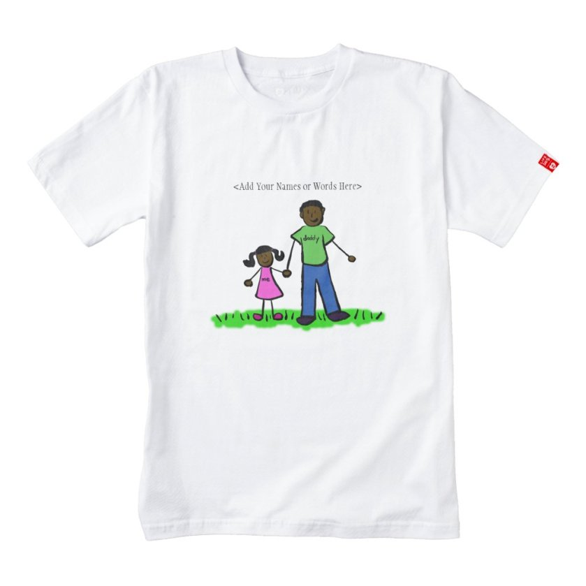 Father & Daughter Custom Family Characters Shirt
