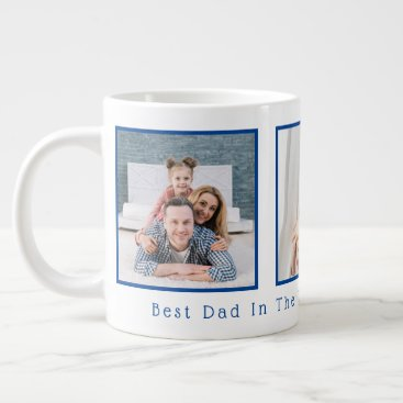 Father's Day Best Dad In The World Multi Photo Giant Coffee Mug