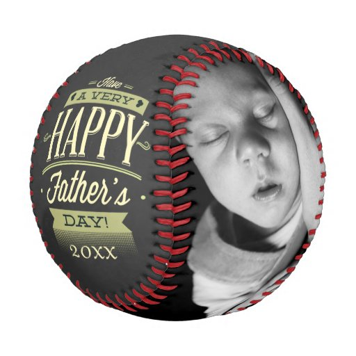 Fathers Day Personalized One Of A Kind Baseball | Zazzle