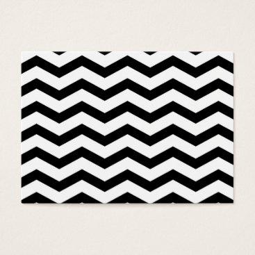 Faux Black White Foil Chevron Zig Zag Pattern Business Card