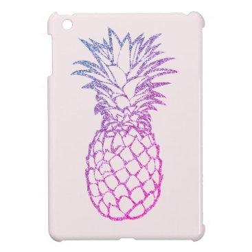 Faux Glitter Purple Pineapple Pink iPad Mini Case
