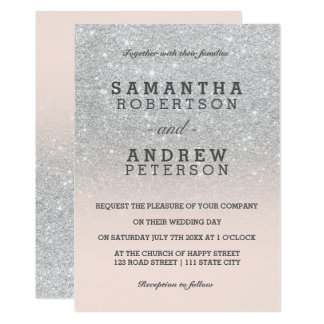 Silver And Pink Baby 39 S Breath Vintage Wedding Card