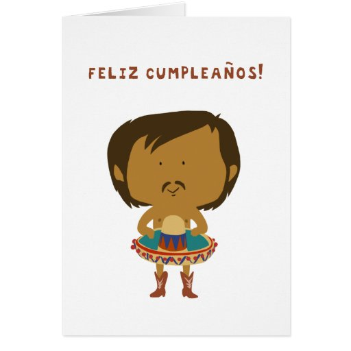 Say it over and over to shout it to the world!!! Feliz Cumpleanos! Card | Zazzle