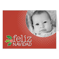 Feliz Navidad - photo border Card