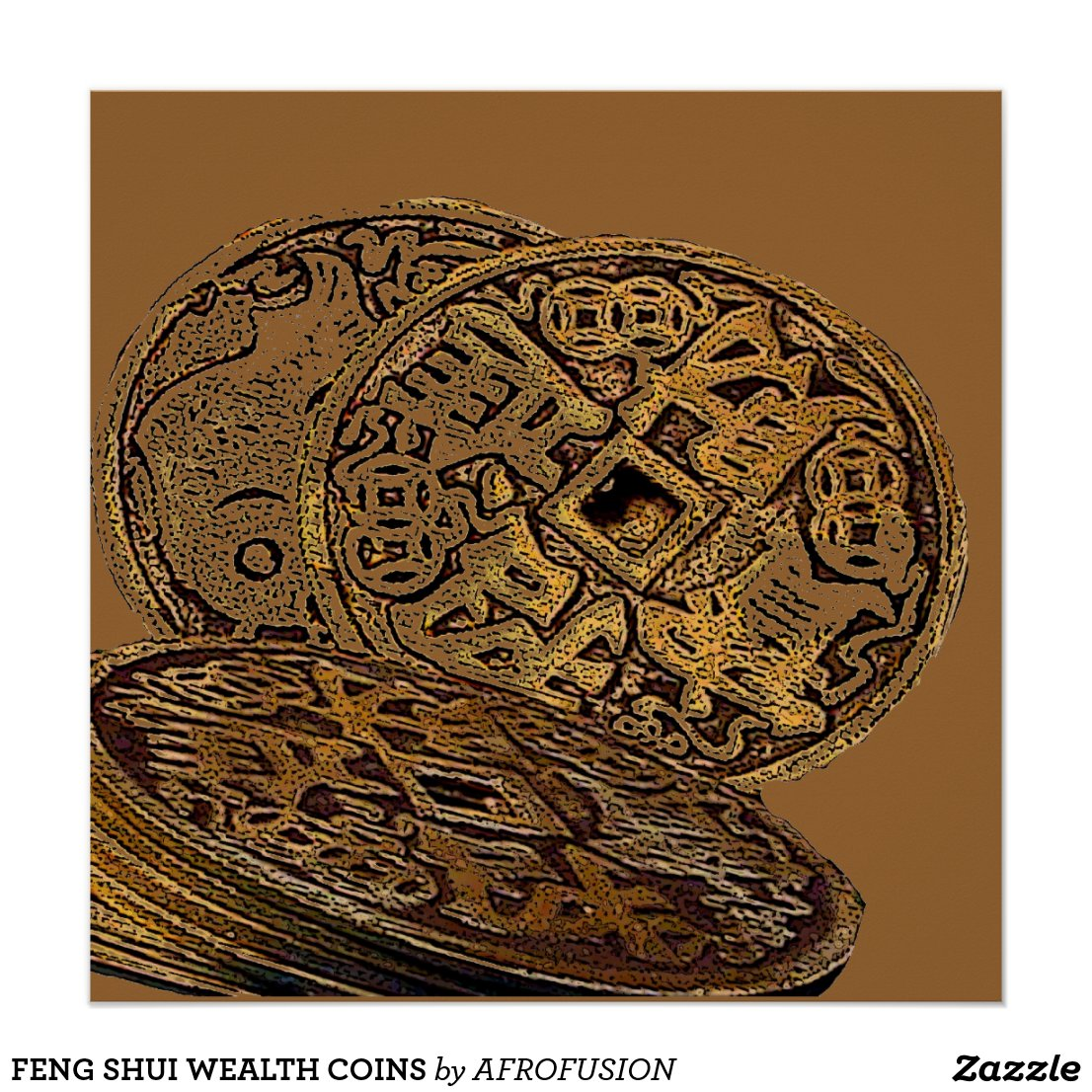 FENG SHUI WEALTH COINS POSTER
