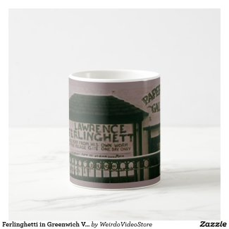 Ferlinghetti in Greenwich Village coffee mug