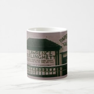 Ferlinghetti in Greenwich Village coffee mug