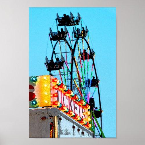 Ferris Wheel at the County Fair Poster
