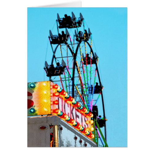 Ferris Wheel Note Card