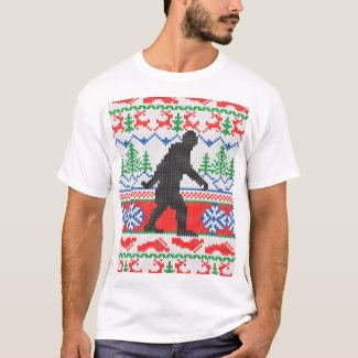 Festive Gone Squatchin Ugly Christmas Sweater Knit