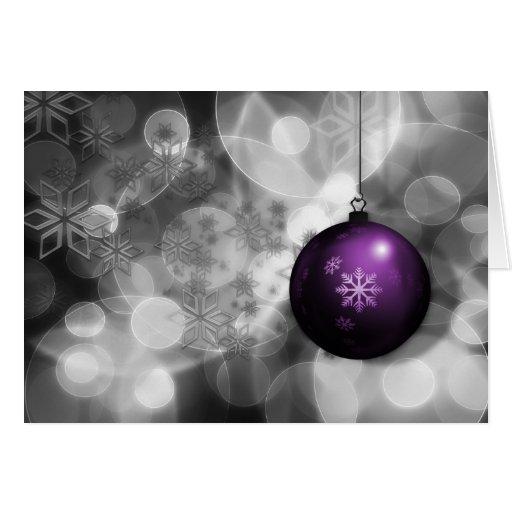 Festive Silver Purple Corporate Christmas Card Zazzle