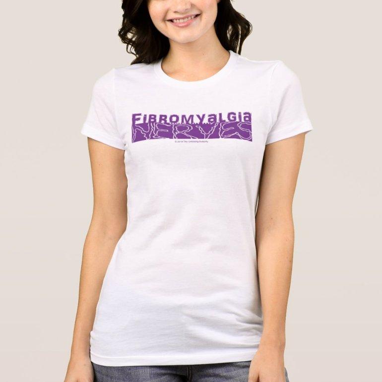 Fibromyalgia Gets on my Nerves Purple Graphic Shir T-Shirt