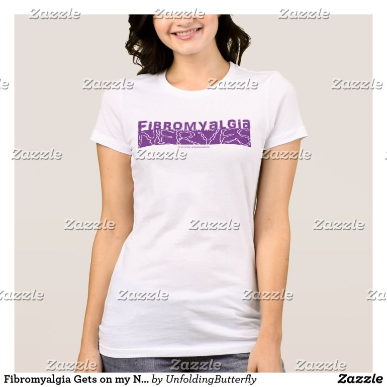 Fibromyalgia Gets on my Nerves Purple Graphic Shir T-Shirt
