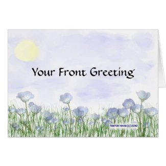Field of Blue Flowers Card card