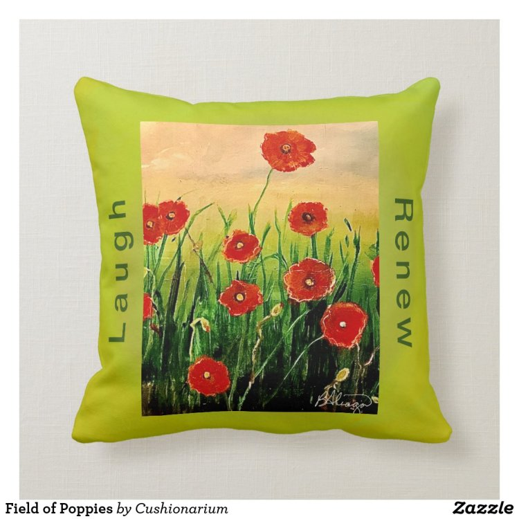 Field of Poppies Throw Pillow