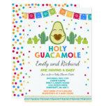 Fiesta Baby Shower Invitation Holy Guacamole Party