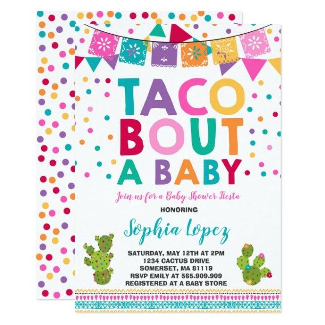 Fiesta Baby Shower Invitation Taco Bout