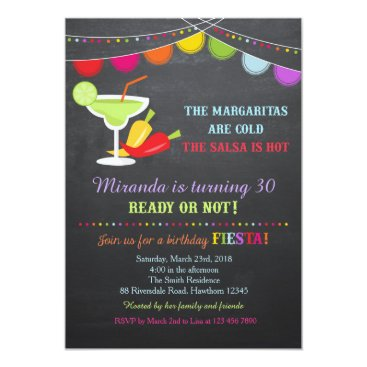 Fiesta Birthday Invitation / Adult Birthday Invite